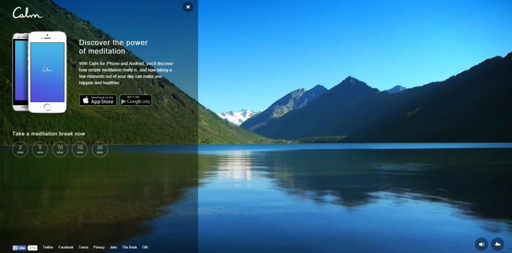 calm-homepage